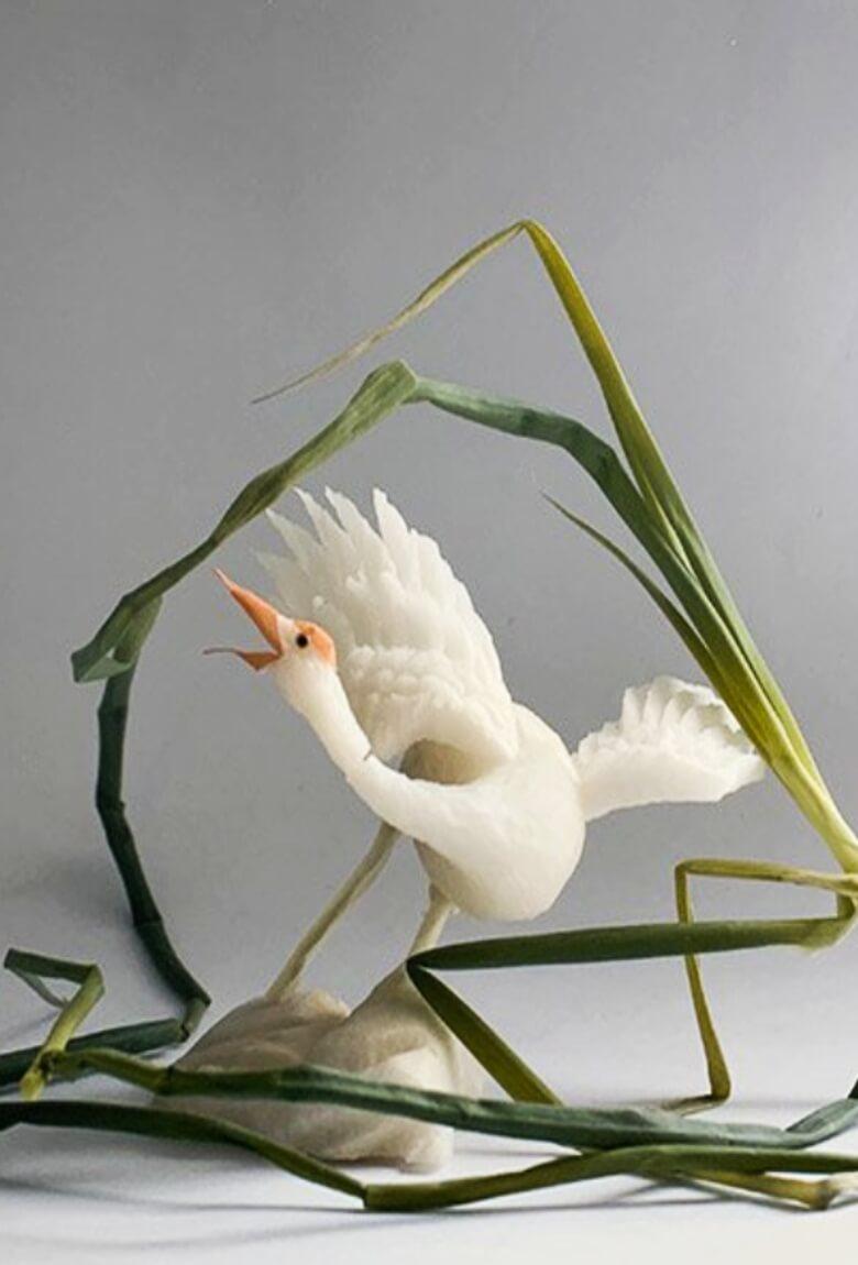 Duan Jianyu crea cosmos naturales con verduras