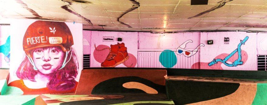 El Skatepark intervenido por Colectivo Tomate