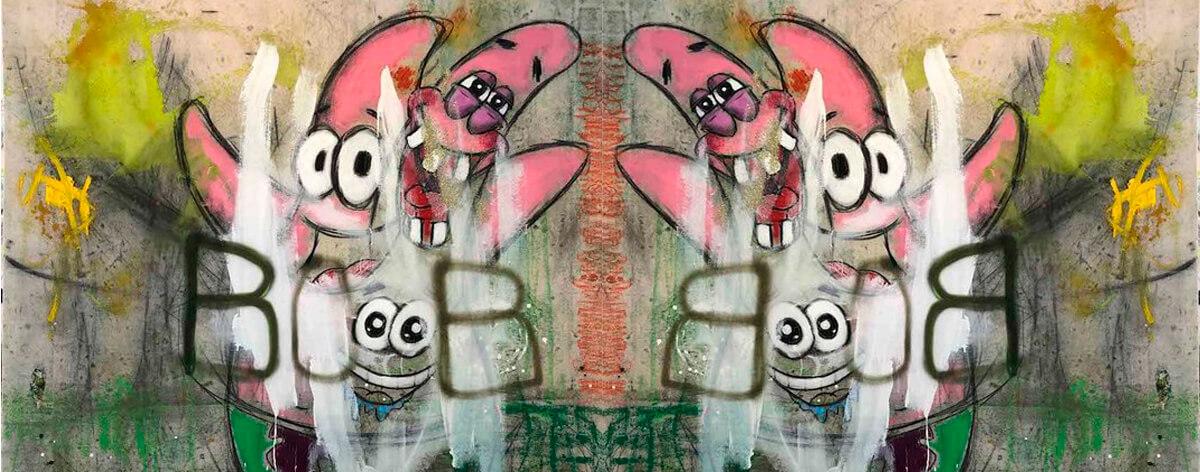 Pinturas abstractas con imágenes pop de George Morton
