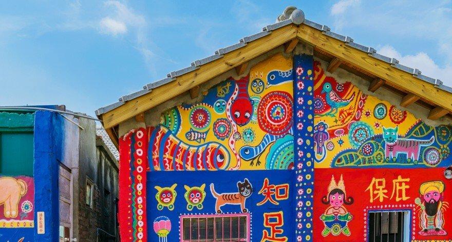 Huang Yung Fu y la aldea arcoíris de Taiwán