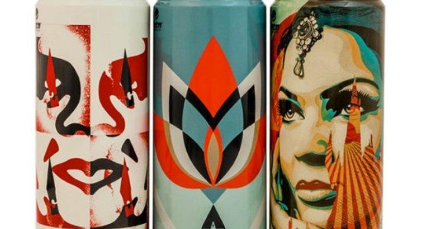 Shepard Fairey y Montana lanzan latas coleccionables