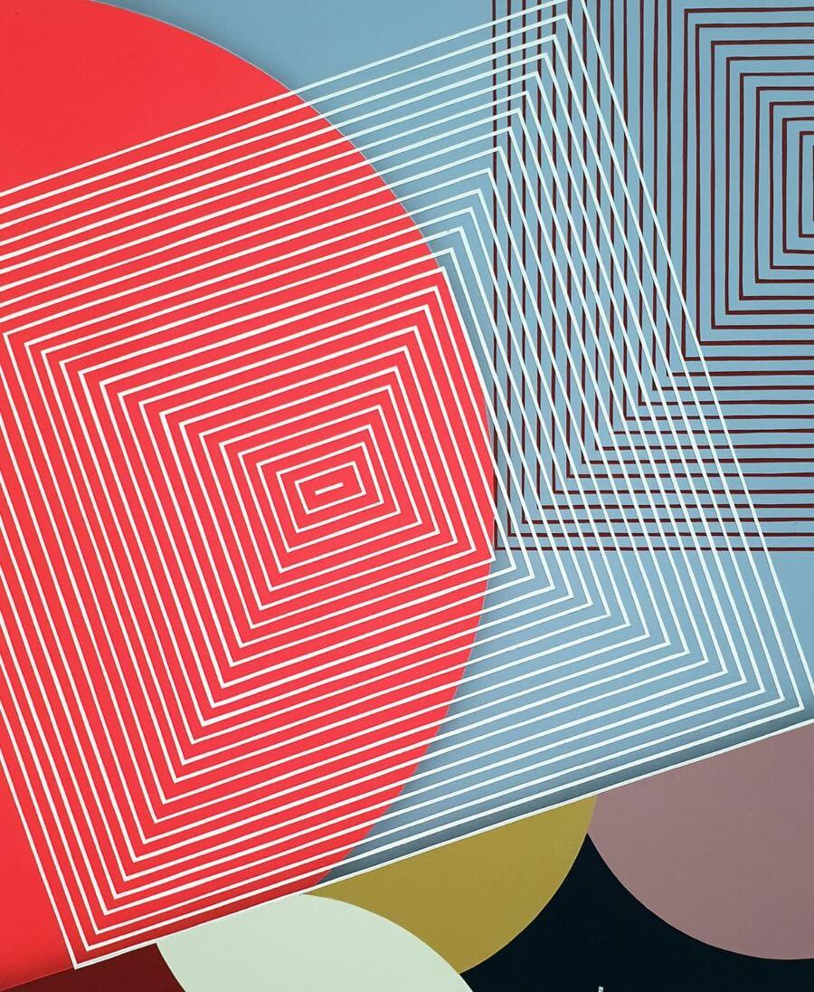 obras abstractas de Hell'O Collective en Delimbo Gallery