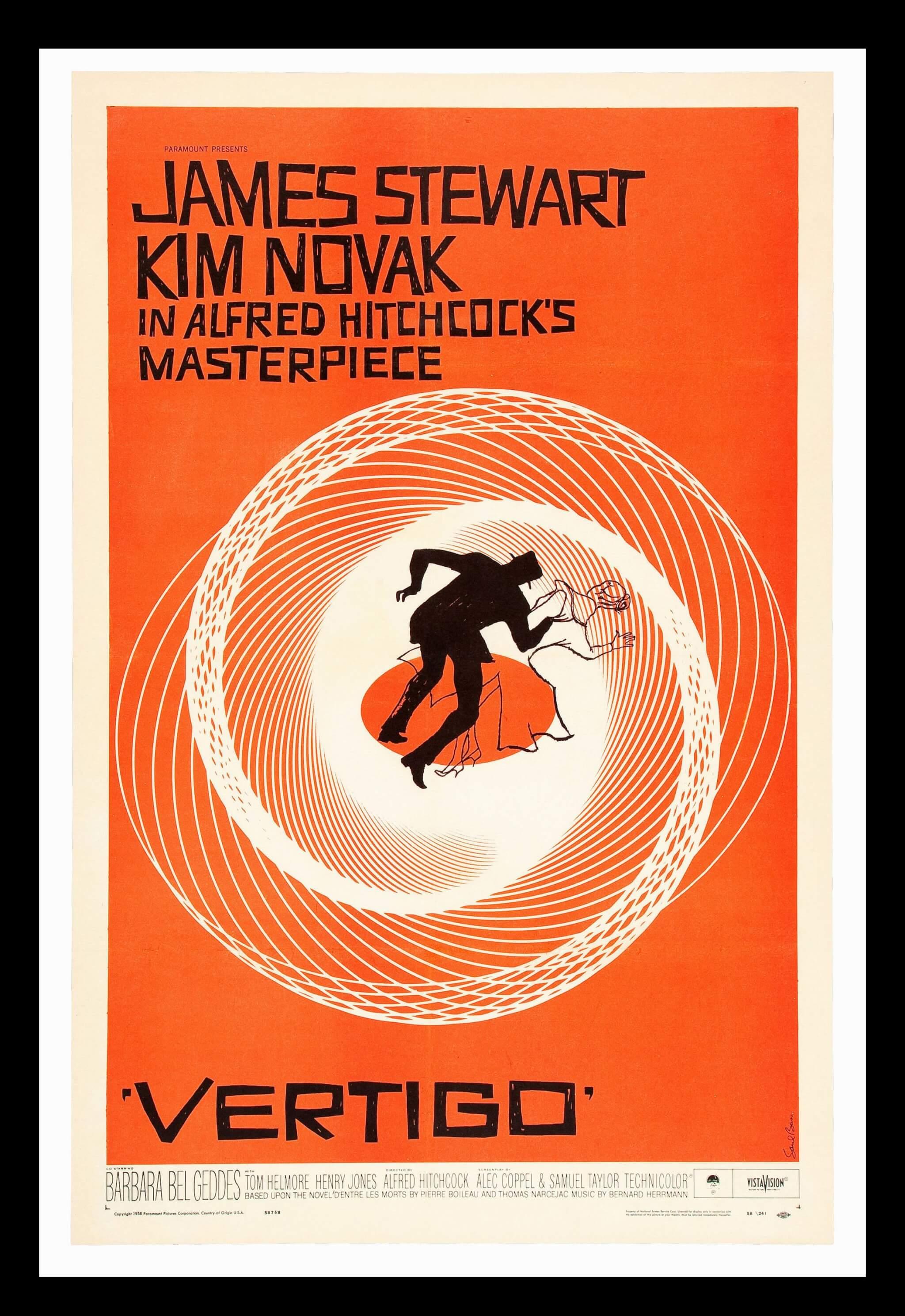 póster de Vertigo de Alfred Hitchcock