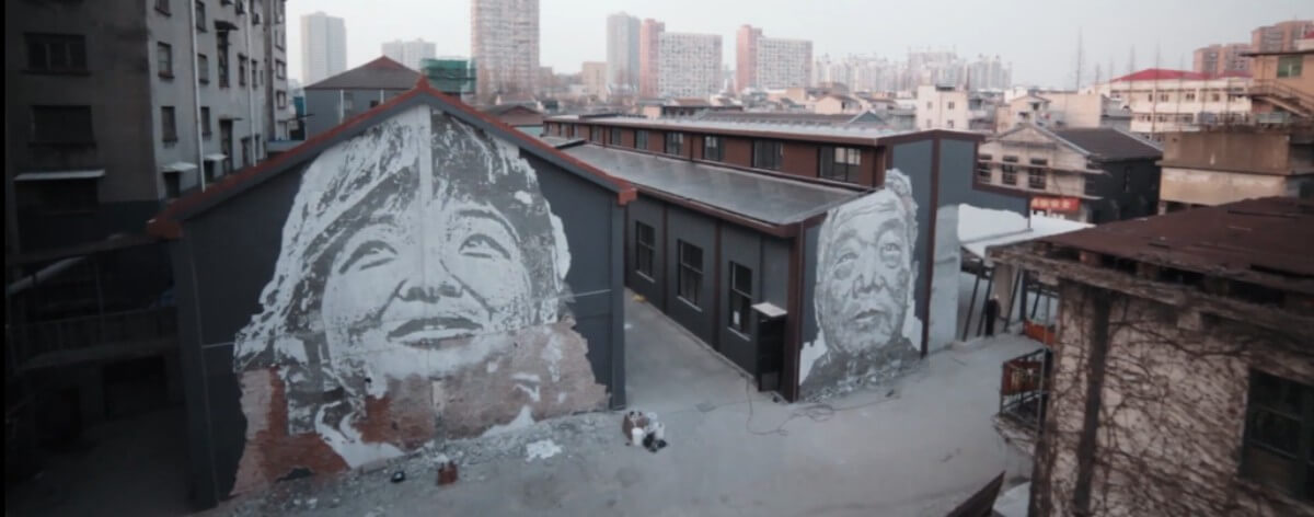 Vhils presenta cortometraje en Shanghai