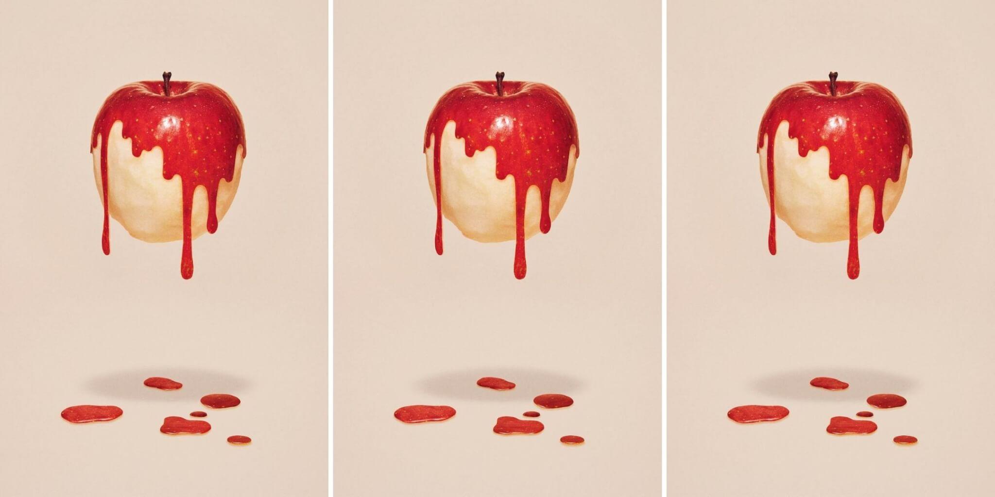 obras surrealistas con manzanas
