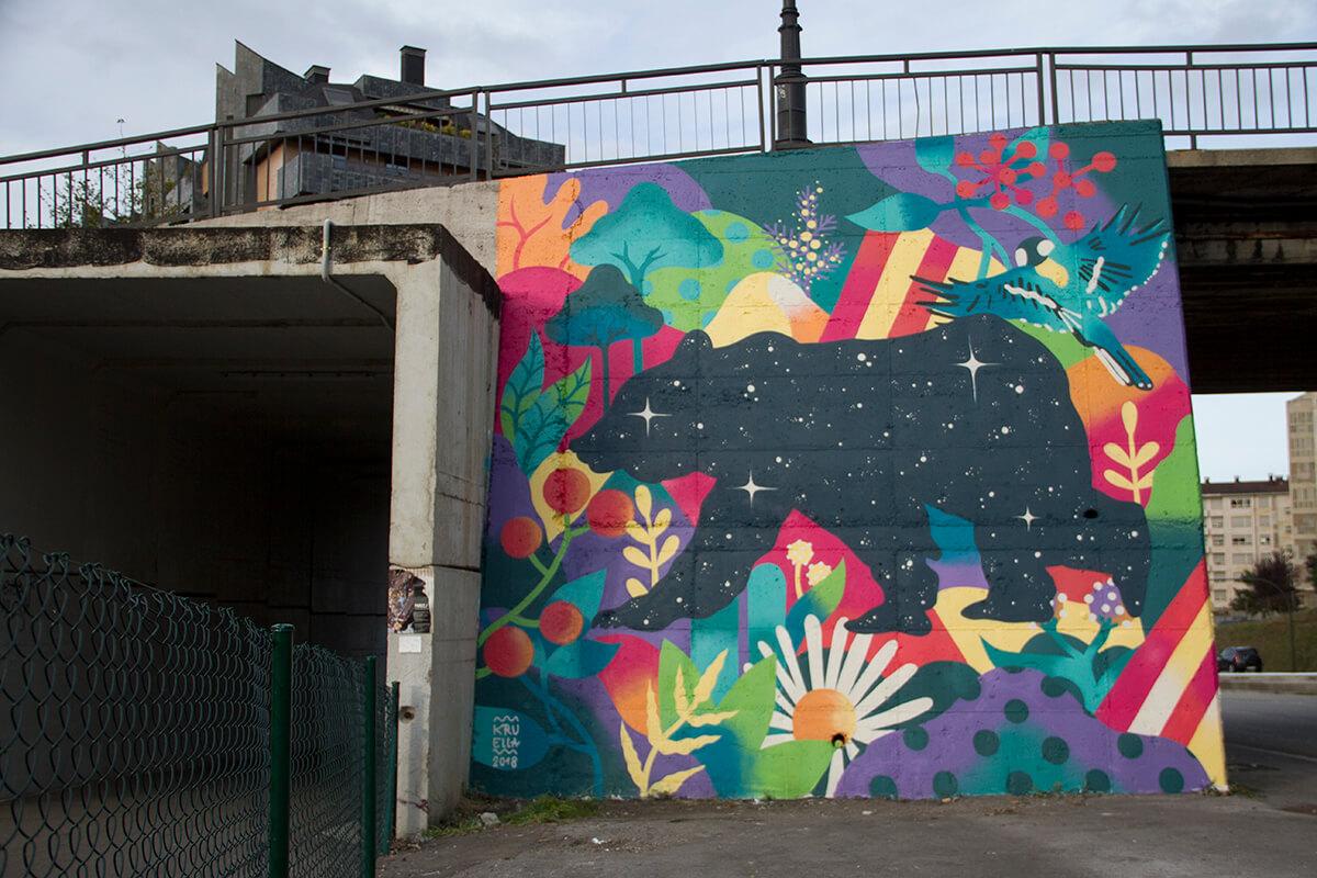 mural de Kruella d'Enfer en Parees Fest