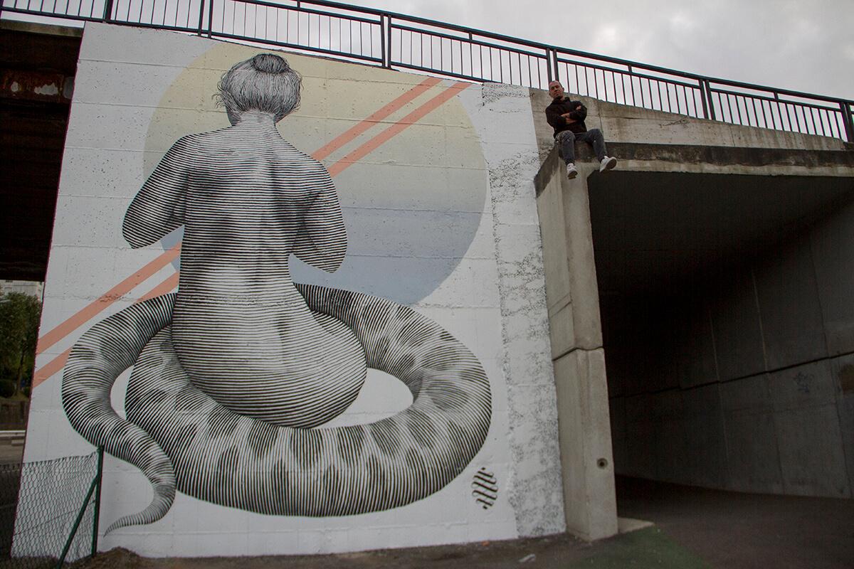 mural de Alfalfa en Oviedo