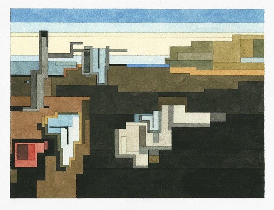 obras pixeleadas del artista