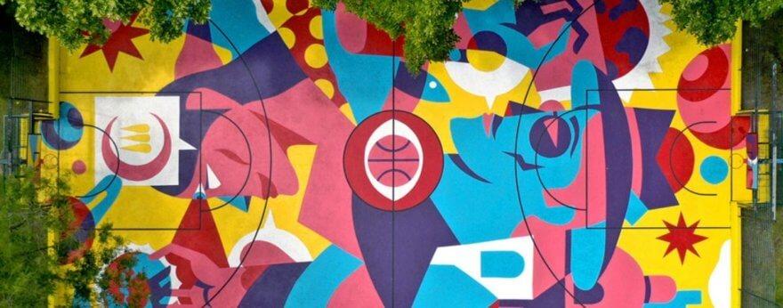 BALANCE, la colorida obra de AkaCorleone en Portugal