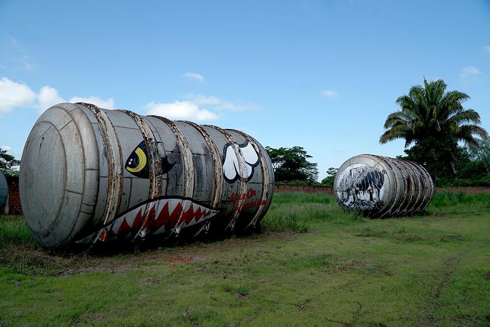Art Distilled obras de arte urbano en la selva de Colombia
