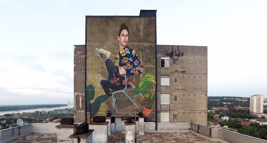Artez presentó su nuevo mural en Belgrado