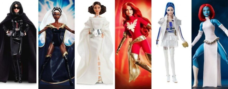 Barbie presenta muñecas de X-Men y Star Wars