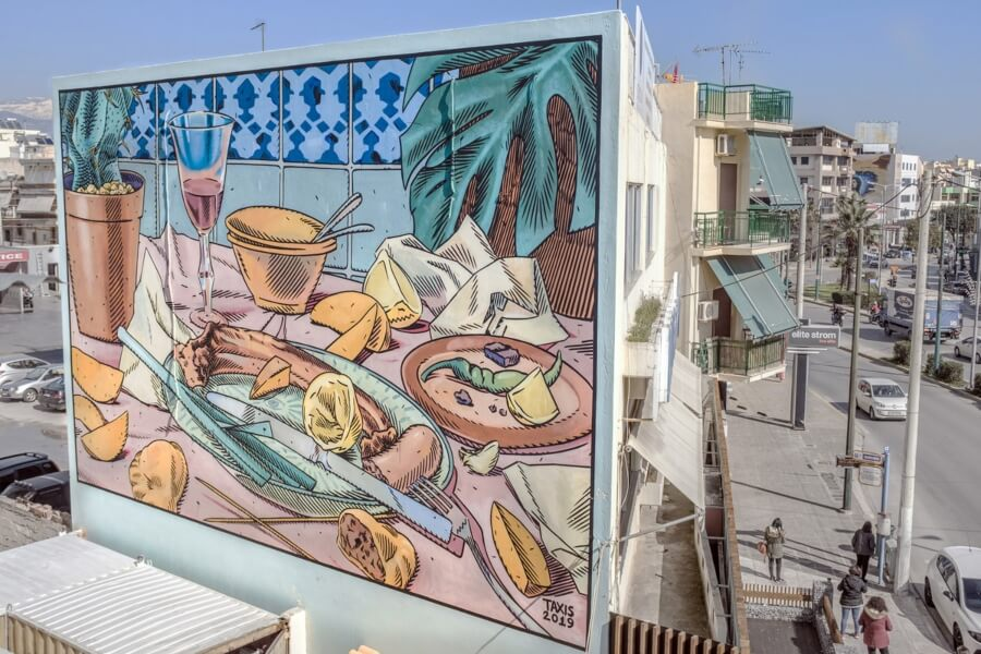 Dimitris taxis y sus creaciones de street art