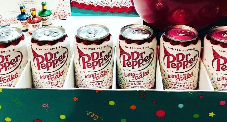El nuevo Dr Pepper sabor pastel de cumpleaños