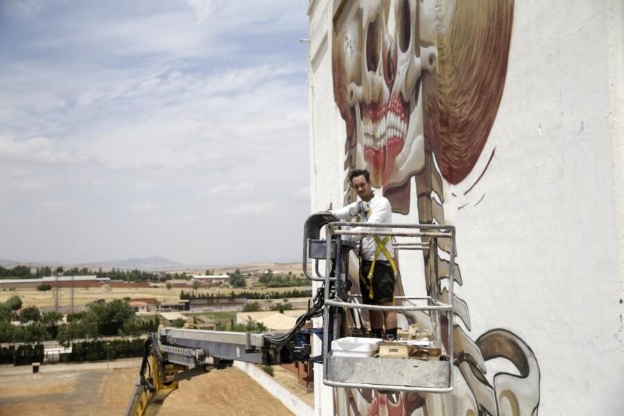 El nuevo mural de Nychos