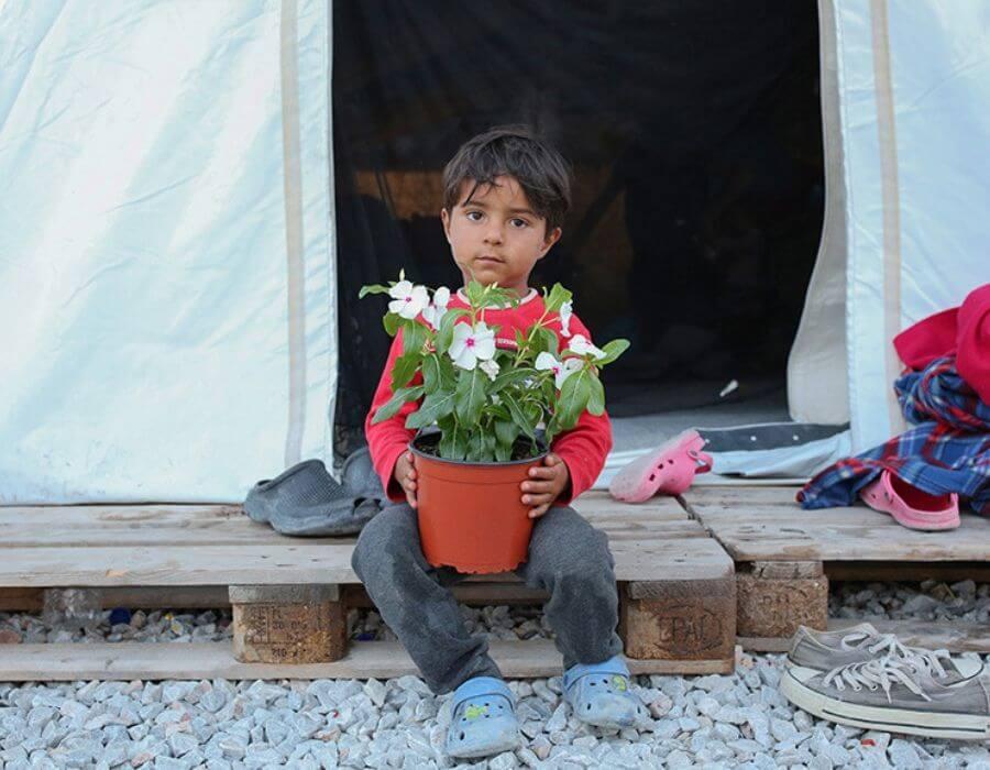 Intervención artística de Icy & Sot en Lesbos