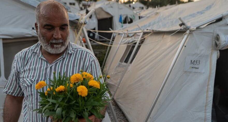 Intervención de Icy & Sot en campo de refugiados en Grecia