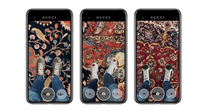 Gucci permite probarse sus sneakers en una app