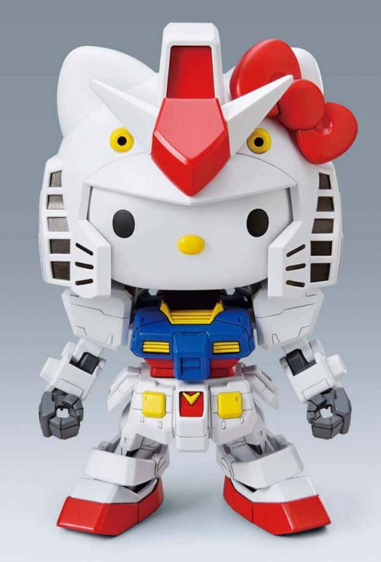 Gundam vs Hello Kitty lanzan juguete y corto