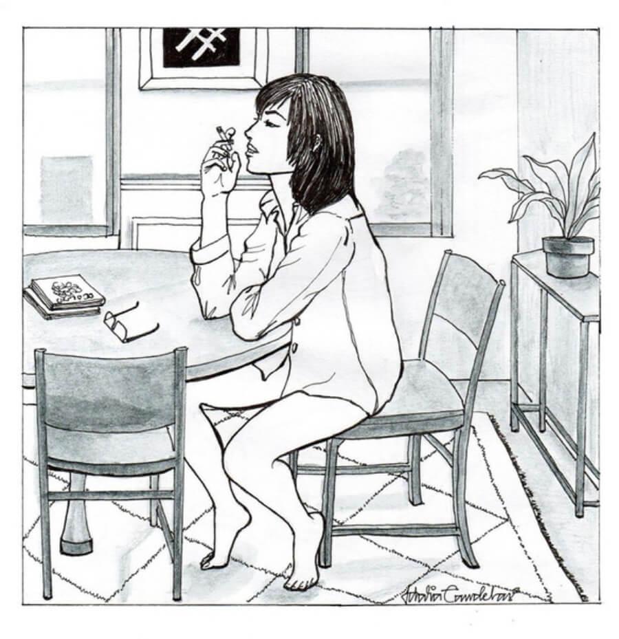 Idalia Candelas illustrates woman's single life