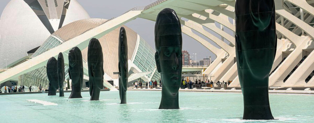 Instalación de Jaume Plensa en Valencia