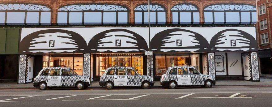Joshua Vides interviene tienda Fendi en Londres