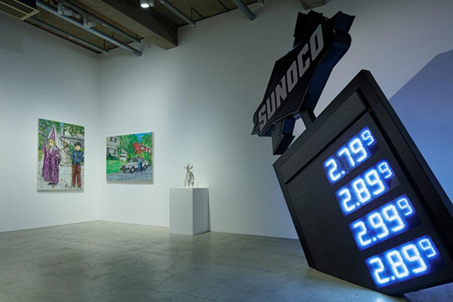 vista de la exposición en la Kaikai Kiki Gallery