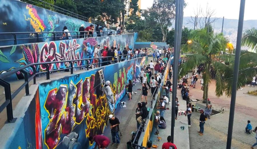 Los nuevos murales de Medellín