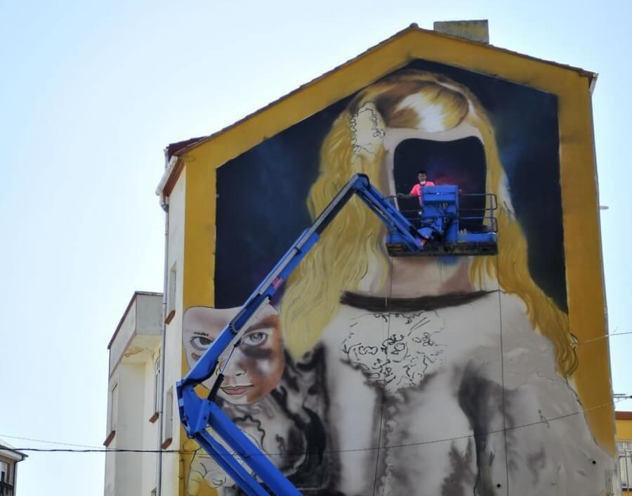 Festival de arte urbano en Canido