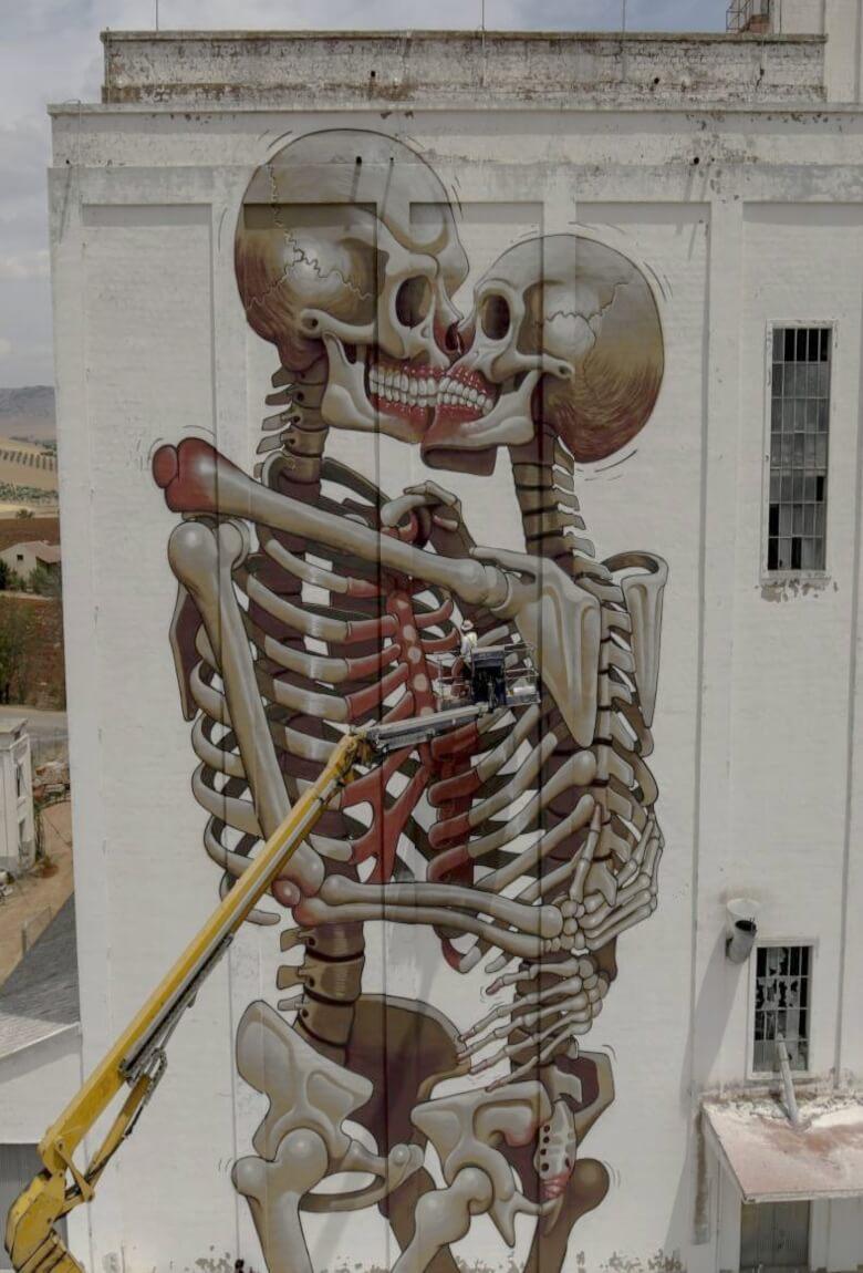 El nuevo mural de Nychos para IAM Titanes