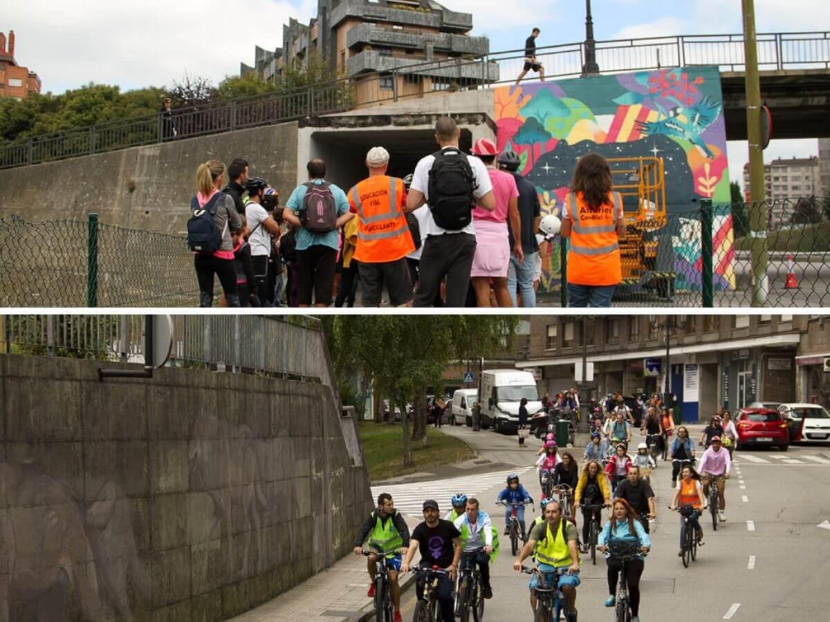street art y ruta en bicicleta en Oviedo en Parees Fest