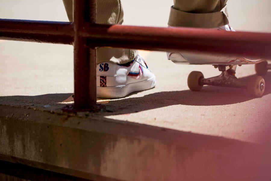 Parra ha creado tenis skate