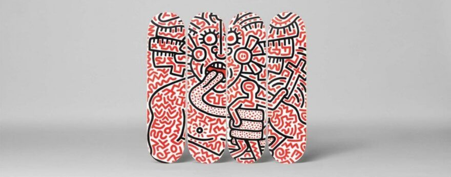 The Skateroom presenta ocho tablas de Keith Haring