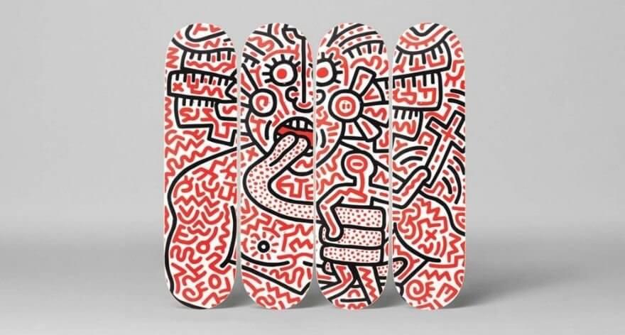 The Skateroom presenta ocho tablas de Keith Haring