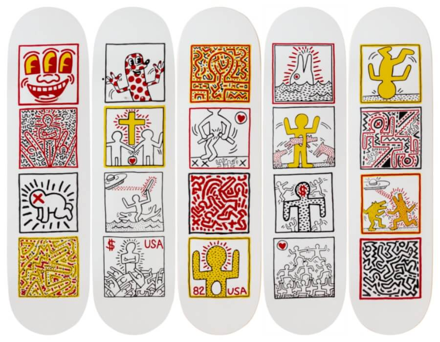 Tablas de Keith Harring
