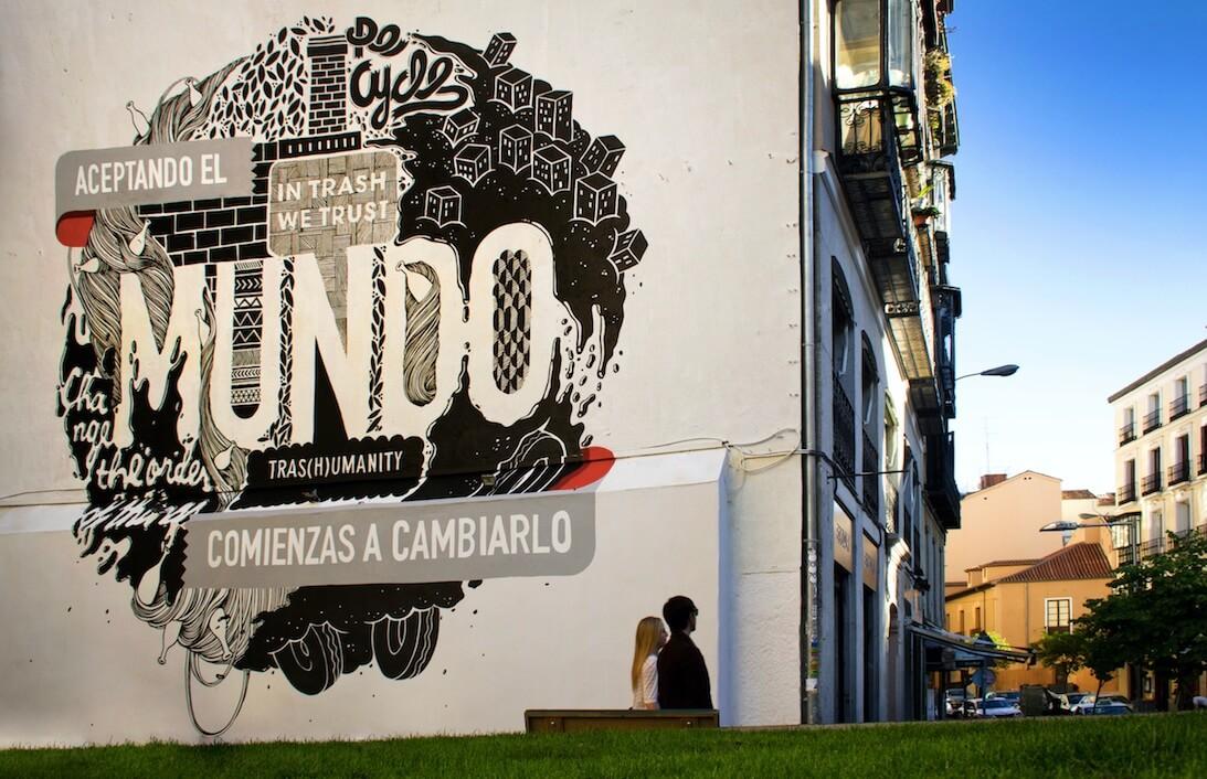 obra de Boamistura, street art de MAdrid
