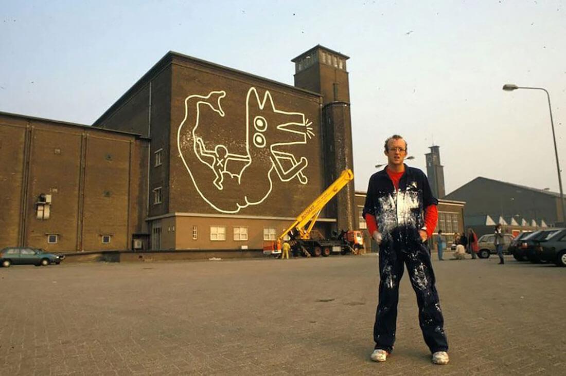 Obra de Keith Haring descubierta