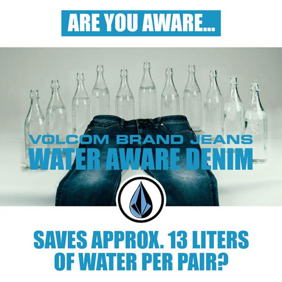 Volcom lanza jeans de mezclilla sostenible que ahorran agua