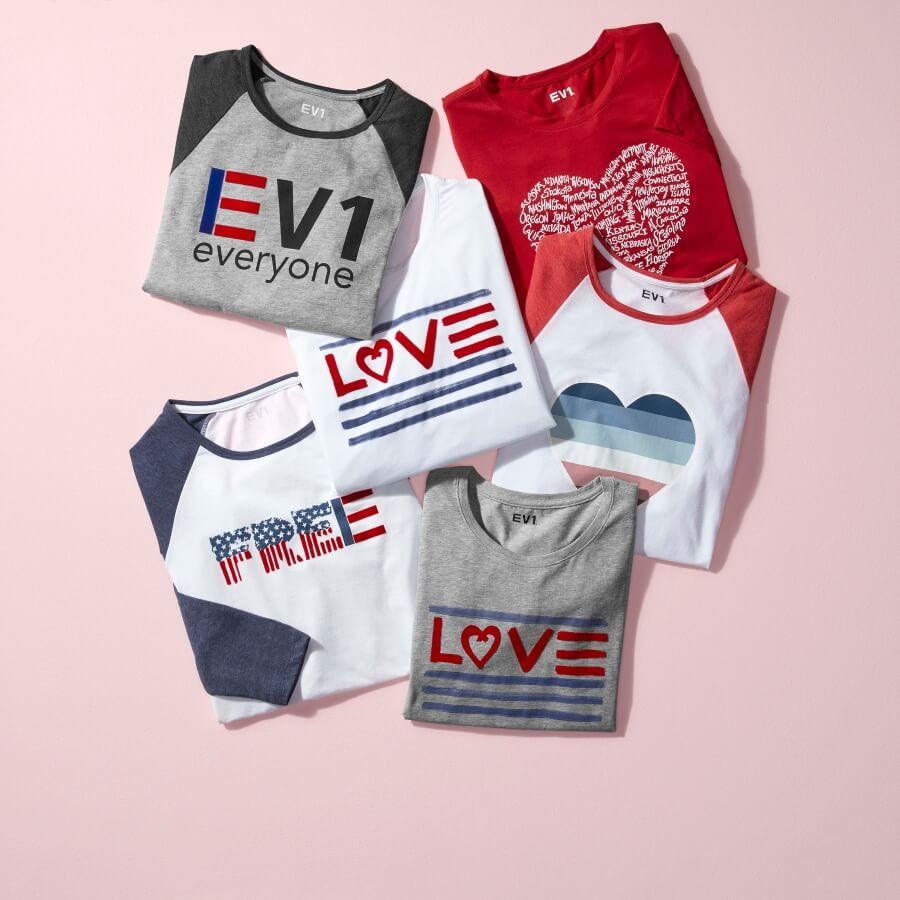 T-shirts de la colección EV1