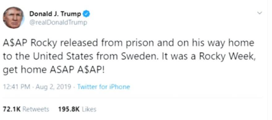 ASAP Rocky es liberado