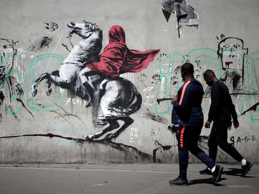 Pieza de Banksy
