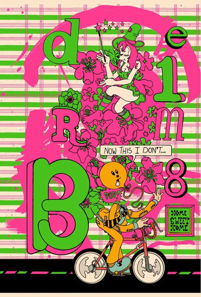 Brian Blomerth ilustrando Bicycle Day y el LSD