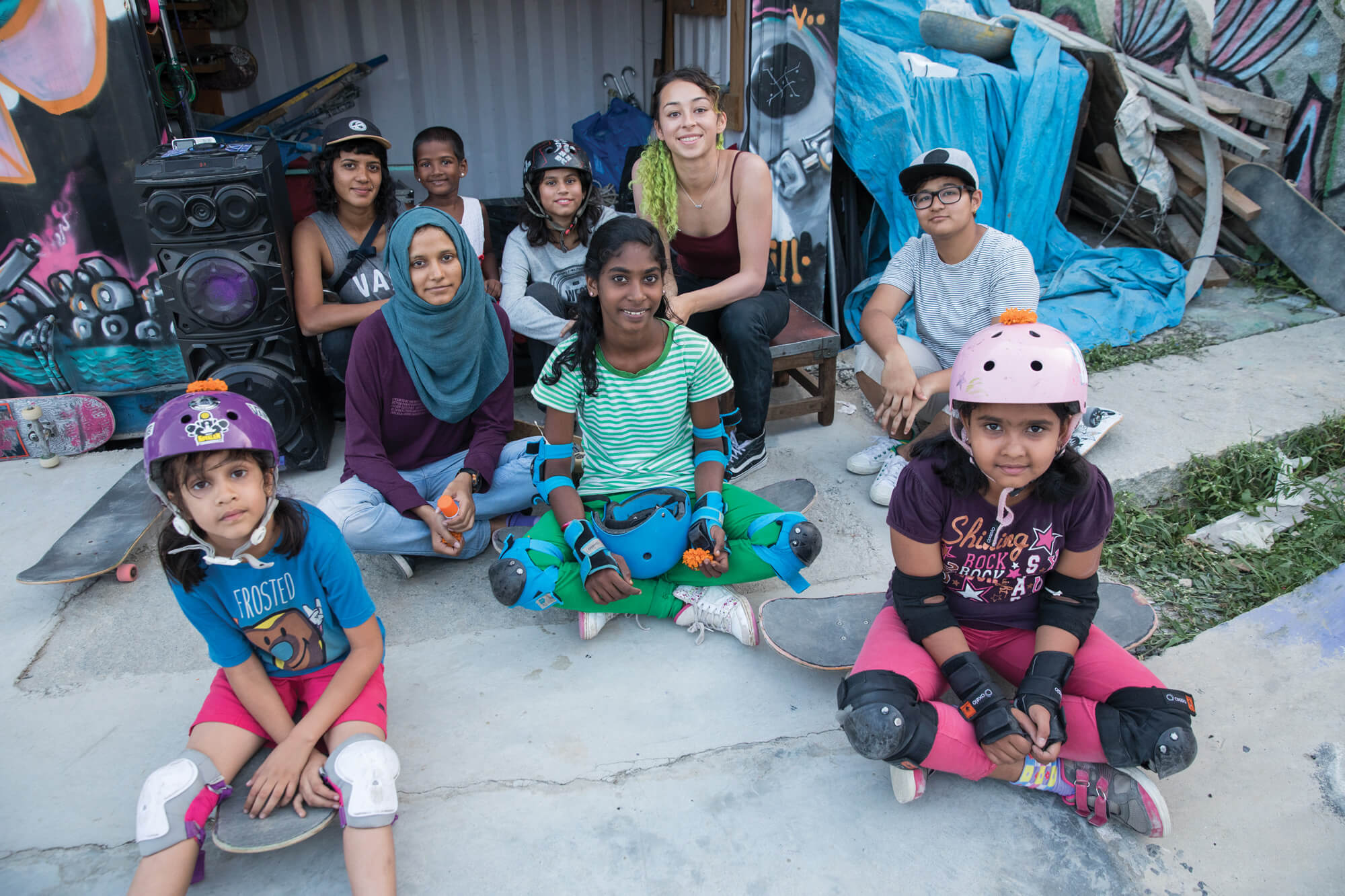 escuela de girls skate en India