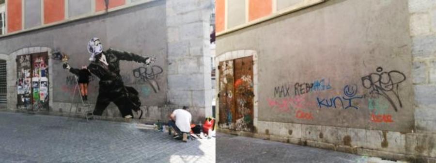 Eddie Colla crea collages en Francia