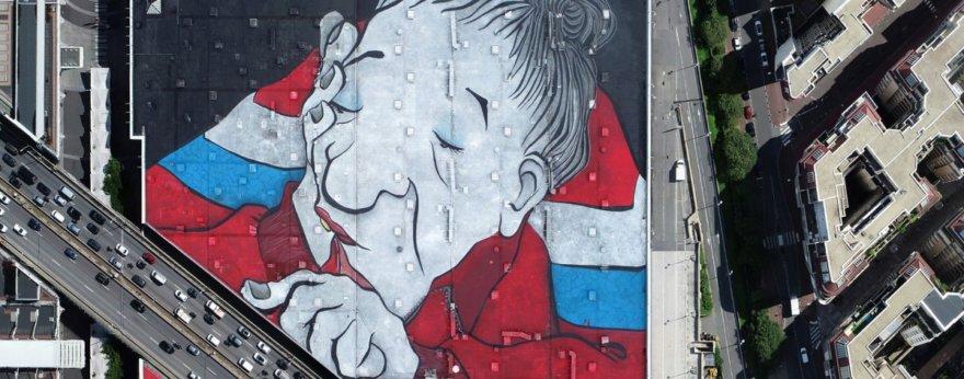 Ella y Pitr crean el mural más grande de Europa