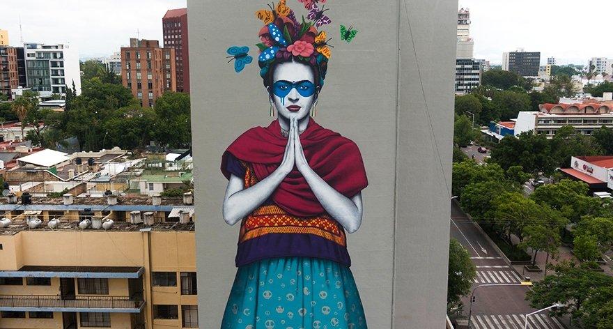 Fin DAC creó mural de Frida Kahlo en Guadalajara