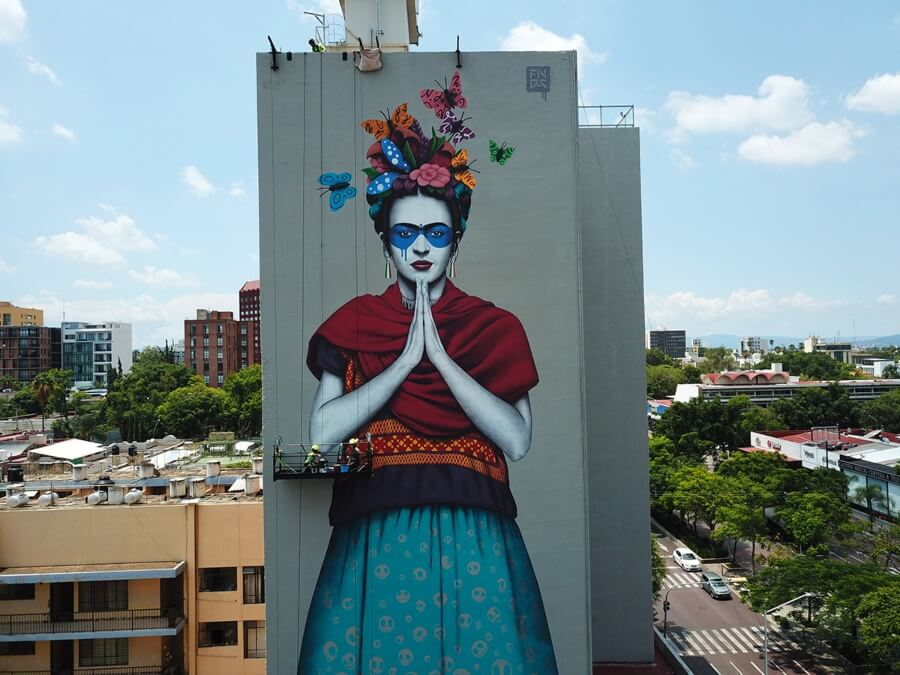 Fin DAC creó mural de Frida Khalo en Guadalajara