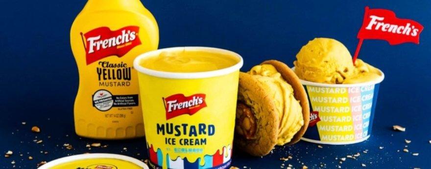 French presentó un helado sabor mostaza