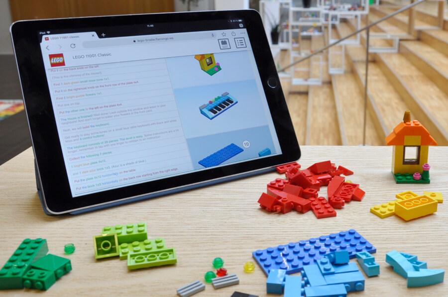 instrucciones de lego en braille para invidentes