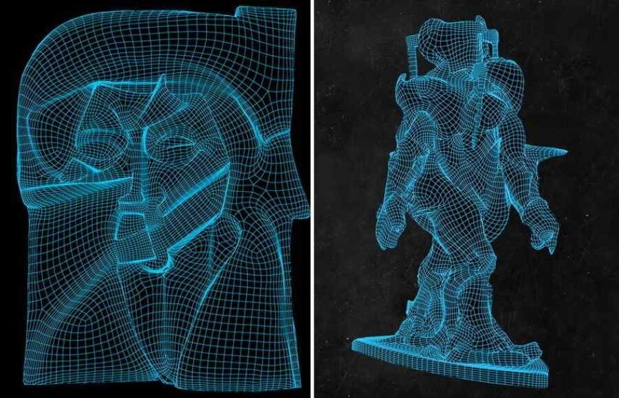 Matt Smith y Anders Raden reproducen esculturas futuristas